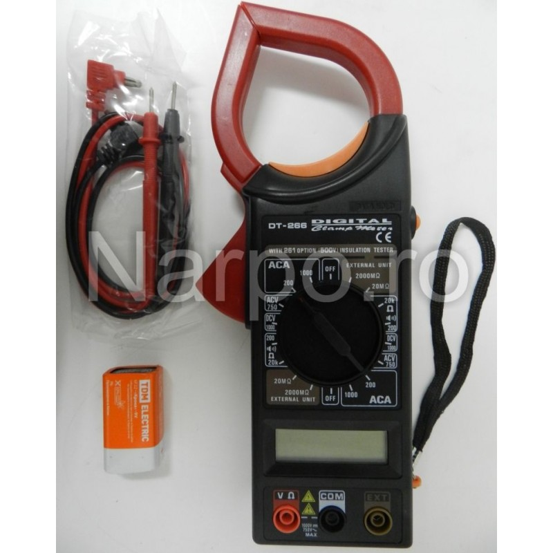 Multimetru digital clampmetru DT-266C cu sonda temperatura