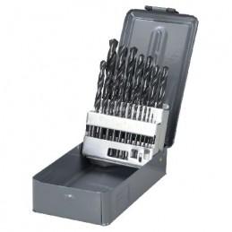 Set burghie metal HSS 118grade in cutie 1-10mm - 19piese PROLINE, 5903755762191
