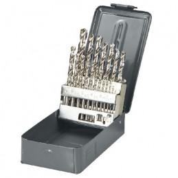 Set burghie metal HSS 135grade in cutie 1-10mm - 19piese PROLINE, 5903755772190