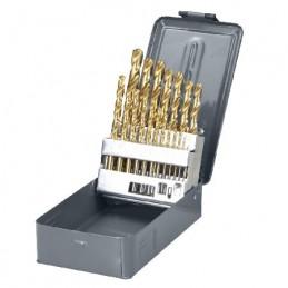 Set burghie metal HSS-TI 135grade in cutie 1-10mm - 19piese PROLINE, 5903755779908
