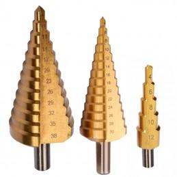 Set burghie metal HSS-TI conice in trepte 4-38mm - 3piese PROLINE, 5903755778031
