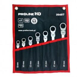 Set chei combinate cu clichet cot CR-VA HD 8-19mm - 7piese PROLINE.HD