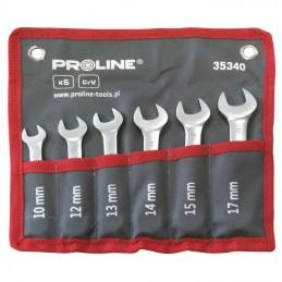 Set chei combinate scurte CR-VA forjate 10-17mm - 6piese PROLINE
