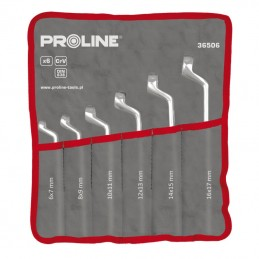 Set chei inelare cotite CR-VA forjate 6-22mm - 8piese PROLINE, 5903755365088
