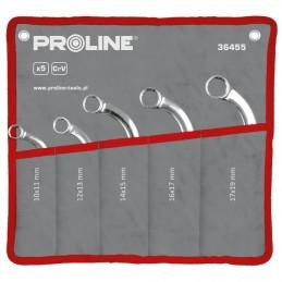 Set chei inelare curbate CR-VA forjate 10-19mm - 5piese PROLINE
