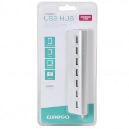 HUB USB 2.0 ALUMINIU 7 PORTURI OMEGA OUH7AL