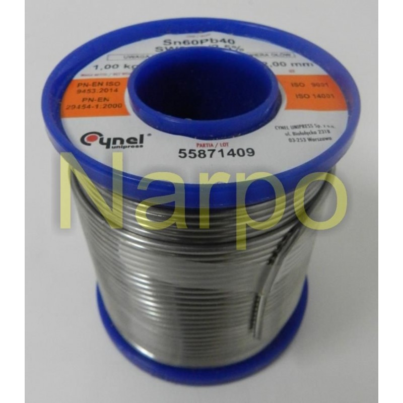 Bobina fludor 2mm 1kg SN60PB40 CYNEL LUT00101-1000