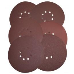 Set 6 Discuri hartie abraziva: 225mm - P60,P80,P120,P150,P180,P240