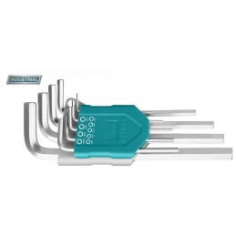 Set 9 chei imbus hexagonale: 1.5-10mm, Cr-V, brat lung (INDUSTRIAL)