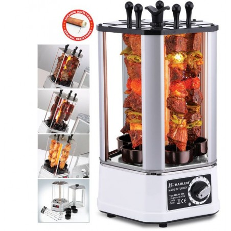 Grill pentru frigarui 1400W Rotisor electric Harlem TURCIA