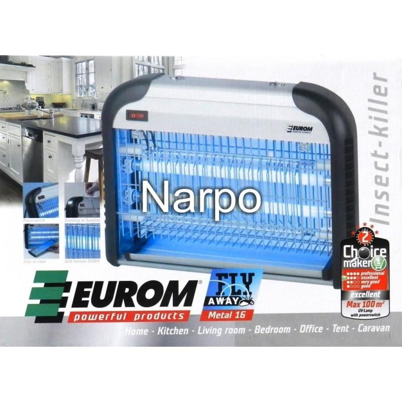 Aparat anti insecte muste tantari Fly Away Metal 16 UV electric