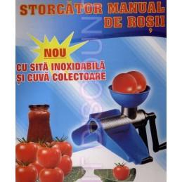 Masina tocat rosii Storcator manual de rosii sita inoxidabila si cuva colectoare cu separator seminte