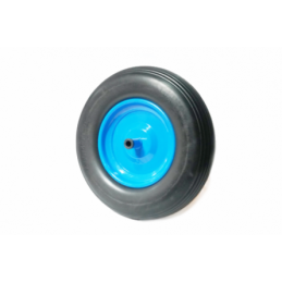 Roata roaba pentu ax subtire 400-8 SPUMA(albastra)