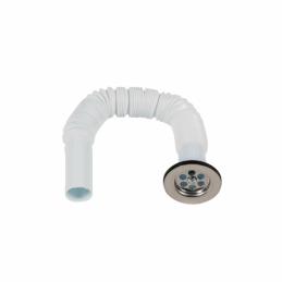 Sifon flexibil scurt cu ventil 32mm