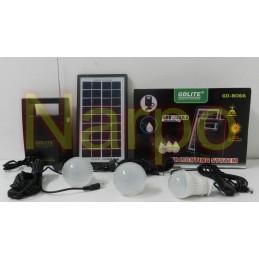 Kit Solar panou 7W GD8066 + USB + Radio FM + 3 becuri led + Acumulator 6V4A