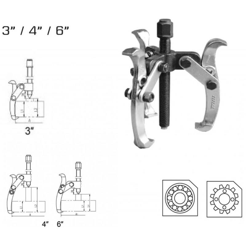 Extractor rulmenti cu 3 brate - 3'' (INDUST