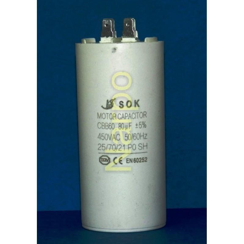 Condensator 80UF 450V pornire motor
