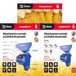 Moara pentru cereale si stuleti de porumb, bobinaj cupru, 2.7kW, intrerupator, Blade, MR0002