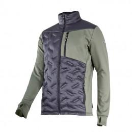 Jacheta mediu-elastica cu matlasare verde-negru
