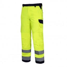 Pantalon reflectorizant premium galben