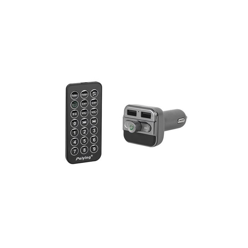 MODULATOR FM AUTO DISPLAY microSD BLUETOOTH dual USB, Peiying