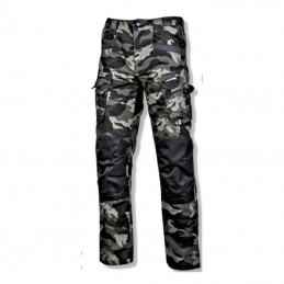 Pantalon interventie intarit camuflaj verde