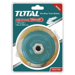Perie sarma tip cupa - 125mm, TAC31051, 6925582173574, TOTAL