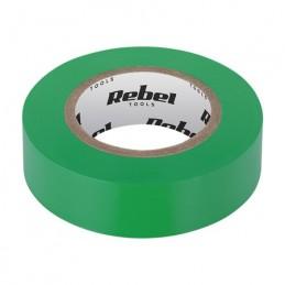 Banda izolatoare 0.13X19X10YD verde REBEL