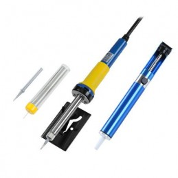 Set letcon 30W + pompa cositor + fludor fara plumb + suport + varf rezerva