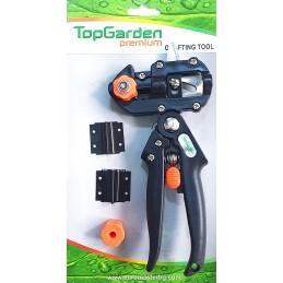 Cleste pentru altoit cu 1 contracutit si 3 lame U V Omega, Top Garden