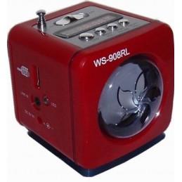 Boxa MP3 WS-908RL MP3 player FM radio MP3 USB flash drive Antena telescopica