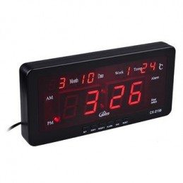Ceas digital led alarma negru Caixing CX-2158