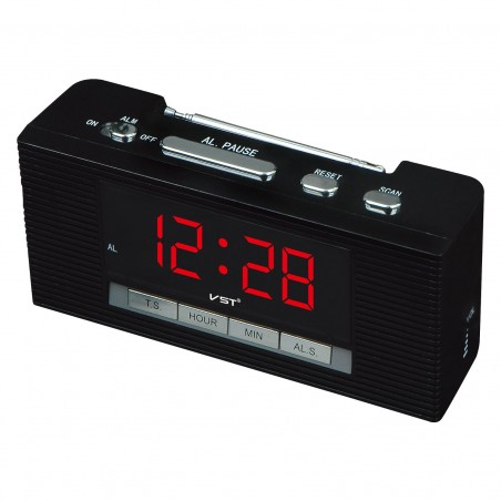 Ceas digital led alarma Radio FM VST-740
