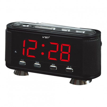 Ceas digital led alarma Radio FM AM VST-741