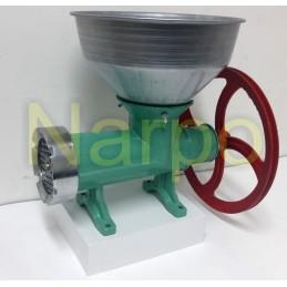 Masina de tocat carne nr 32 fonta manuala Verde cu roata rulment si palnie