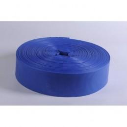 Furtun plat din PVC refulare pompa 2 tolli albastru insertie panza