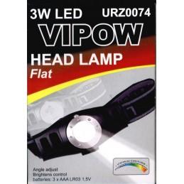 LANTERNA DE CAP LED 3W PLATA VIPOW