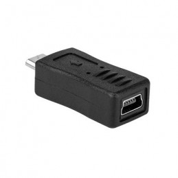 ADAPTOR MINI USB MAMA - MICRO USB TATA