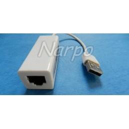 Placa de retea externa RJ45 cu adaptor USB 2.0