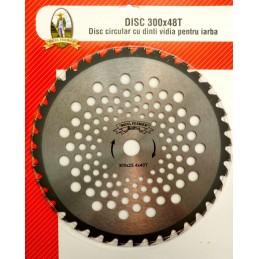 Disc circular cu dinti VIDIA 300x25.4x40T pentru iarba