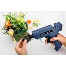 Pistol de lipit Gluematic 5000 Steinel fara fir, putere 500W 11mm, 220°C, 22g/min, 2 duze, 5 baghete adeziv Ø11mm, 332716
