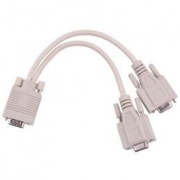 Cablu Y splitter VGA 15T - 2 x VGA spliter 1xTata - 2xMama 15 pini