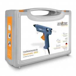 Pistol de lipit cu silicon 11mm 200W 210º-220ºC Gluematic 3002 cu valiza depozitare, Steinel, 333393