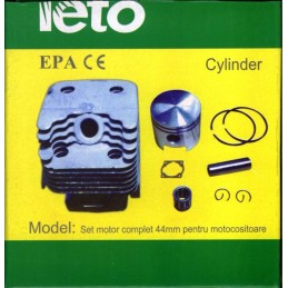 Set motor motocoasa 44mm + garnitura Yeto 52cc kit complet