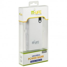 POWER BANK 10000MAH M-LIFE 5V 2.1A