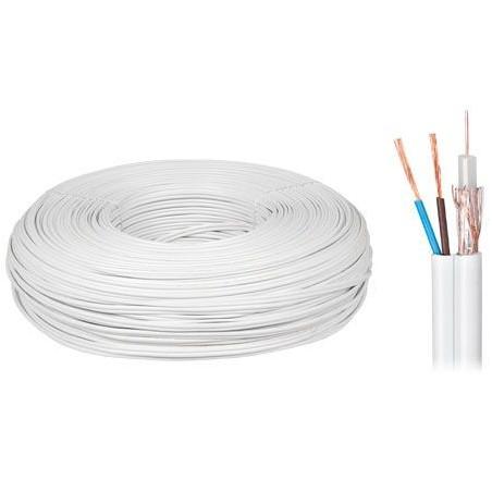 Cablu coaxial cu alimentare cupru 75 2x0.5mm 1M