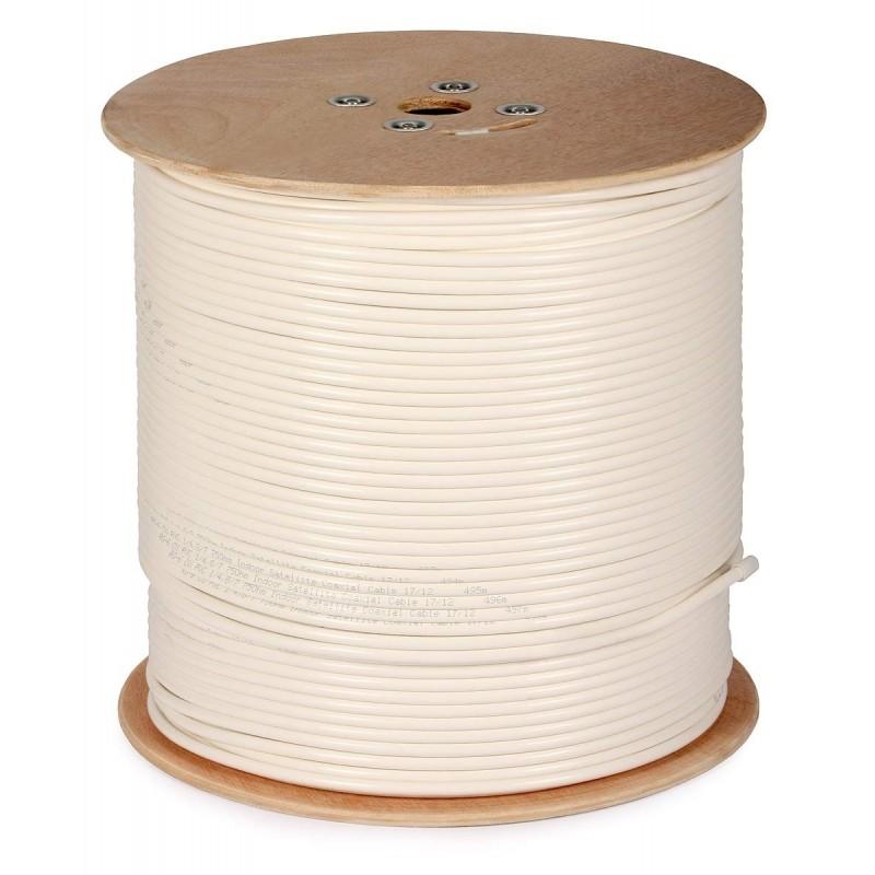 Cablu coaxial satelit RG6 cupru - rola 500 metri