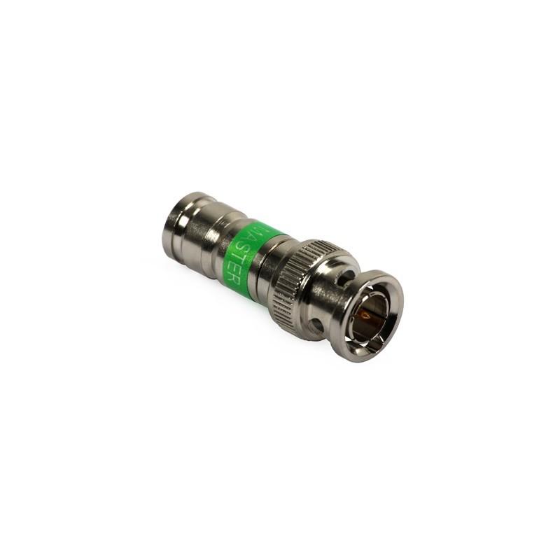 Mufa BNC compresie 6 MASTER pentru cablu RG6