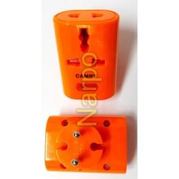 Adaptor priza USA UK - RO Portocaliu cu LED