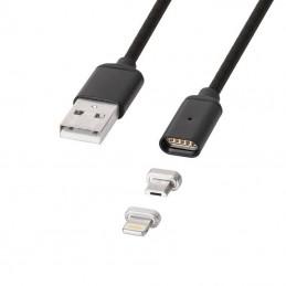 CABLU USB MAGNETIC MICRO USB / LIGHTNING 1M